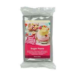 Pasta di Zucchero Fondant Grigio Pietra 250 g Senza Glutine FunCakes