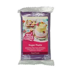 Pasta di Zucchero Fondant Viola Regale 250 g Senza Glutine FunCakes