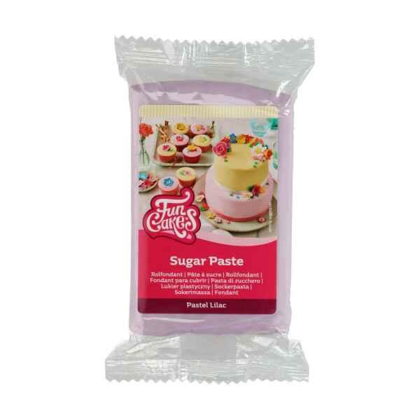 Pasta di Zucchero Fondant Lilla Pastello 250 g Senza Glutine FunCakes