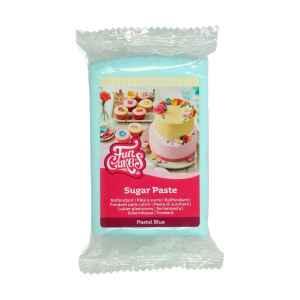 Pasta di Zucchero Fondant Celeste Pastello 250 g Senza Glutine FunCakes