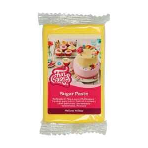 Pasta di Zucchero Fondant Giallo Mellow 250 g Senza Glutine FunCakes