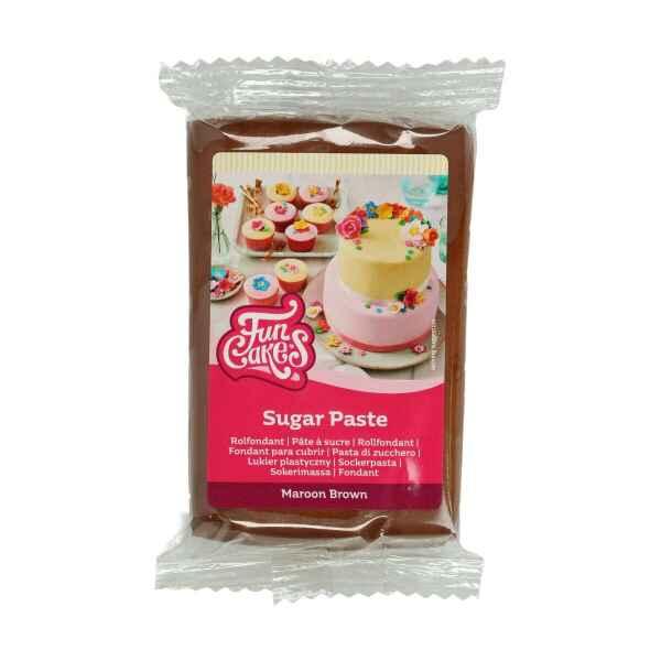 Pasta di Zucchero Fondant Marrone Brown 250 g Senza Glutine FunCakes