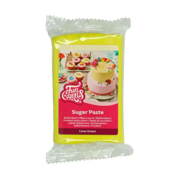 Pasta di Zucchero Fondant Verde Lime 250 g Senza Glutine FunCakes