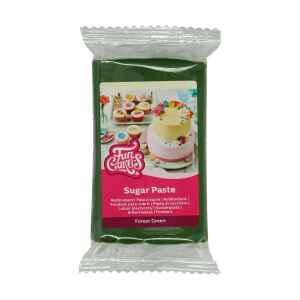 Pasta di Zucchero Fondant Verde Foresta 250 g Senza Glutine FunCakes