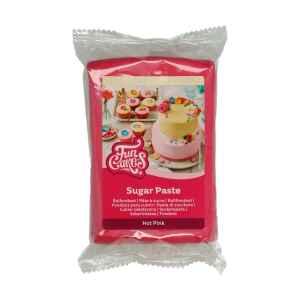 Pasta di Zucchero Fondant Rosa Hot Pink 250 g Senza Glutine FunCakes