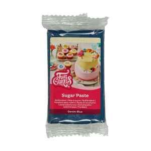 Pasta di Zucchero Fondant Denim Blu 250 g Senza Glutine FunCakes