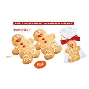 Biscotti Appendibili Omino Decorato 12 pz
