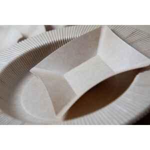 Piatti di Carta Quadrati Grandi Compostabile Wasabi Kraft 19,8 x 19,8 cm Extra
